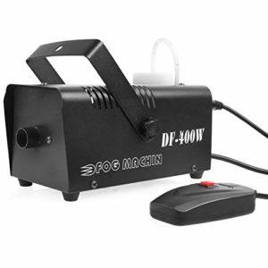 MVPower Machine à Fumée, 400W Machine à Brouillard avec Télécommande, Idéal pour les Fêtes, les Discos DJ, les Bars, les Mariages