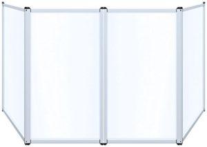Novopro Djs2léger en aluminium Blanc écran de DJ et sac