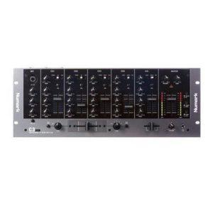 Numark C3USB – Table de Mixage en Rack 5 Voies avec Interface Audio USB Plug-And-Play Intégrée, Égalisateurs de Voie, Crossfader Remplaçable et Ensemble Complet d'Entrées/Sorties