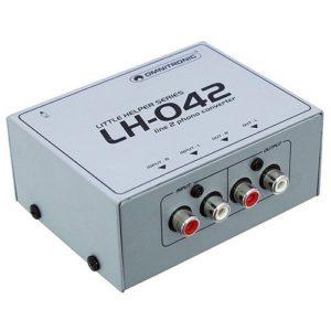 Omnitronic 057215 LH-042 Ligne/Convertisseur phono Argenté