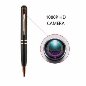 OMZBM Mise À Niveau 1080P HD Caché Spy Camera Pen 64GB Digital Recorder Device pour Les Entretiens Réunions Conférence Learing Discours,Black