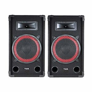 Paire d'enceintes passives SONO DJ PA 10″/25cm 2x250W 2 Voies BassReflex IBIZA STAR10-250