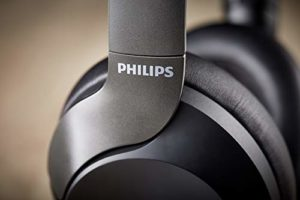 Philips On Ear PH805BK/00 – Casque Bluetooth à réduction de bruit active (30 heures d'autonomie, Audio Hi-Res, microphone intégré, Assistant Google) noir