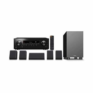 Pioneer HTP-076-B Système Home Cinéma 5.1 avec récepteur et Ensemble d'enceintes (150W/Canal, Multiroom, Bluetooth, Dolby Atmos, Dolby Vision, 4K FullHD, Radio), Noir