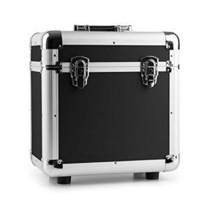 Power Dynamics RC80Valise pour disque vinyle (rack portable pour 80disques LPS de 12, intérieur en mousse viscoélastique, léger Station spatiale internationale)–Noir 80 discos negro