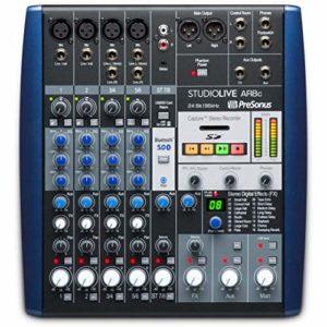 PreSonus StudioLive AR8c Interface audio 8 canaux USB-C compatible avec mélangeur analogique et enregistreur SD stéréo