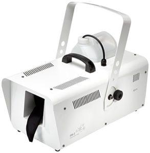 QTX SW – 2–Machine à Neige – 1200W avec câble DMX-télécommande et Commande (50 m ³/Min. schneeausstoß, Pas de Temps de préchauffage-Volume du réservoir: 5 l + Support de Suspension Blanc