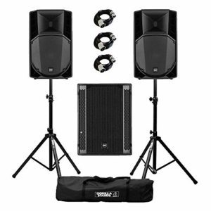 RCF Art 745-A MK4 Active DJ Disco PA Enceintes (x2) & RCF Sub 705-AS II Caisson de basse avec pieds Gorilla (x2)