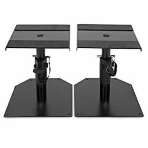 Record SS-18 Support d'écran pour table réglable en hauteur (18,5 à 28,5 cm) en caoutchouc antidérapant sur plaque supérieure