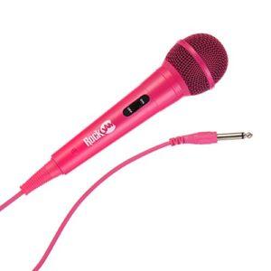 Rockjam Câblé Microphone Dynamique unidirectionnel avec 3 Mètres Cordon Rose