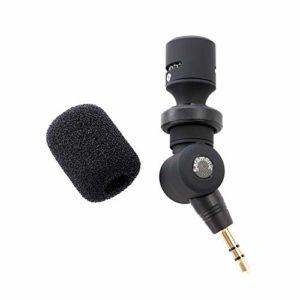 Saramonic SR-XM1 Microphone omnidirectionnel TRS 3,5 mm Plug and Play Microphone pour les appareils photo reflex numériques Caméscopes SmartRig+ et systèmes de microphone sans fil UWMIC9