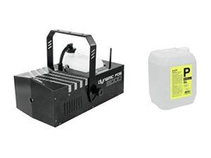 Set de 2x Machine à fumée dfo2000230V/2000W, temps de préchauffage 240s, Ca 566M³/min. + brouillard 5L Fluide Longue Durée et haute densité–Machine à Fumée Pour mesurer ou petit Scènes–showking