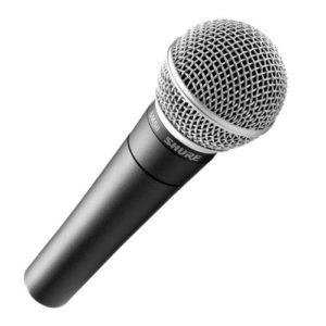Shure – Microphones dynamiques SM 58 + Pince et trousse inclus