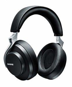Shure Casque sans Fil AONIC 50 à Réduction de Bruit, son Exceptionnel de Qualité Studio, Bluetooth 5, Maintien sur l'Oreille Sécurisé, Autonomie de 20 Heures, Simple d'Utilisation– Noir