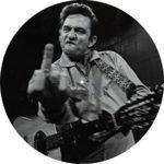Slipmat Tapis antidérapant en feutre pour platine vinyle LP DJ 30,5 cm Motif Johnny Cash Doigt