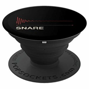 Snare Audiowave DAW Producer DJ Vintage Kick Clap Drum PopSockets Support et Grip pour Smartphones et Tablettes