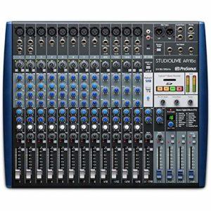 StudioLive AR16c : mélangeur analogique/interface audio 16 canaux compatible USB-C™ / enregistreur SD stéréo