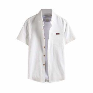 Subfamily Chemisette pour Homme Neuve Différentes Couleurs Chemises Homme Slim Fit Repassage Facile Loisir Chemise Manche Courte Poche T-Shirt Tops