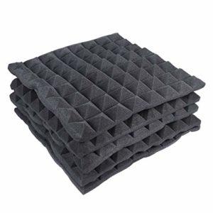 SUPVOX 5pcs Panneaux Insonorisants Pyramidal Correction Acoustique Mousse Isolation Acoustique Noir