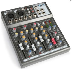Table DE MIXAGE Mixer DJ USB 4 CANAUX Lecteur USB MP3 Carte SD Echo Delay MICR