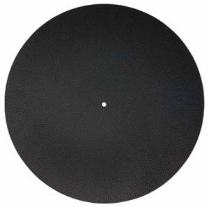 Tapis en cuir synthétique pour plateau de disque – Noir titane