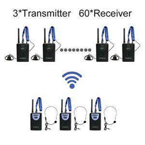 TP-WIRELESS 2.4 GHz numérique sans fil Team Déclaration de Déclaration, guide de voyage pour l'équipe, la traduction simultanée, émetteur, et sans fil récepteur sans fil (3 émetteur et récepteur 60)