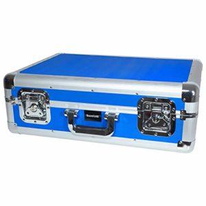 Valise de Transport/Rangement Bleu pour 150 CD avec Couvercle Amovible – SoundLab G073DB))