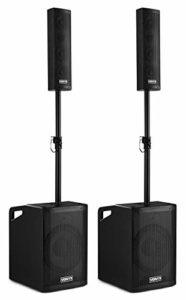 Vonyx VX1050BT Kit Enceintes Actives 2.2 • 1150 Max • Plug and Play • Streaming Audio Bluetooth • MP3, SD, USB, AUX • Micro • Idéal pour les DJ, mariages, et animations • Son puissant haute qualité