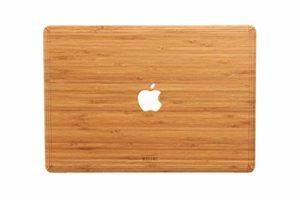 WOODWE Autocollant en Bois véritable pour MacBook 12″ Modèle : A1434 début 2015 – mi-2017 – Véritable Bois de Bambou Naturel