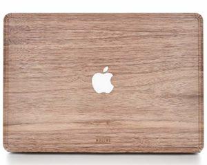 WOODWE Autocollant en Bois véritable pour MacBook Air 13″ Modèle : A1237/A1304/A1369/A1466 début 2008 début 2015 en Bois de Noyer Naturel et Naturel