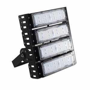 XAJGW Lumière d'inondation à LED – Lumières DEL 150W 7800Lm du crépuscule à l'aube en plein air Lumières d'inondation à LED 5000K 300W MH Éclairage extérieur identique pour les entrées de porte, les a