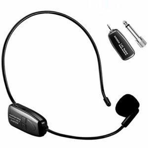 XIAOKOA Wireless Microphone,Microphone Sans fil 2.4G,Transmission Sans fil de 50 m,Compatible avec 3,5 mm et 6,35 mm,pour Guide Touristique/Enseignement/Promotion/Discours