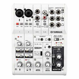 Yamaha AG06 Mixeur 6 canaux / 2 Microphone