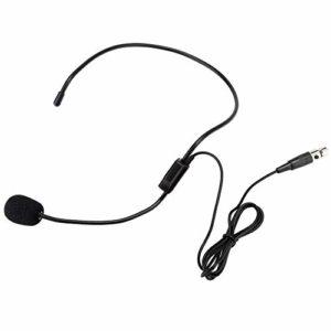 Yencoly Produit électronique Mini Microphone Professionnel, Microphone amplificateur, connecteur XLR TA3F à 3 Broches. Durable pour Les Performances Sportives