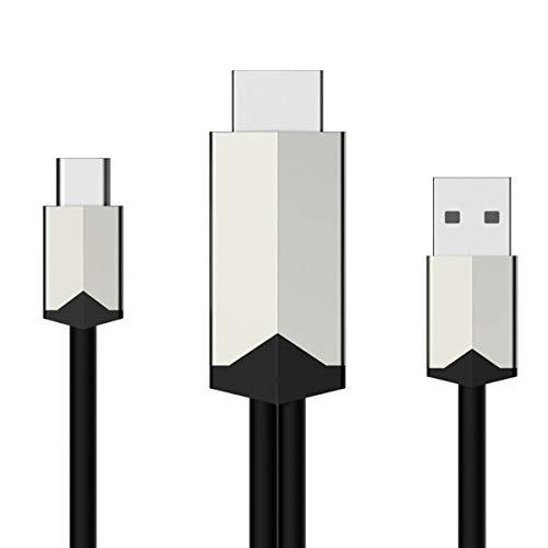 Yinuoday Câble Adaptateur Type-C Vers Hdmi 2M 4K Uhd Convertisseur Mâle Vers Mâle pour Ordinateur Pc Écran Tv