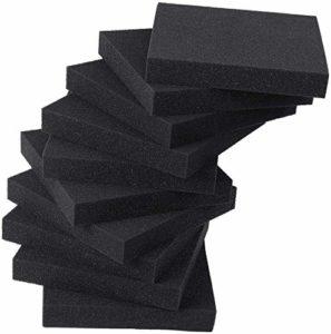 10 pièces Carreaux Mousse d'insonorisation Haute densité 20×20 1/2 / 3cm Mur Mousse éponge insonorisant la réduction du Bruit, Travail