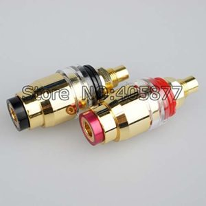 100pcs Gold Plated Hi-End Amplifier Speaker Terminal Binding Post Audio Speaker Jack Plug