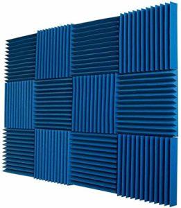 12 pièces Panneau Mousse Acoustique Carreaux Mur d'enregistrement Studio 12x12x1 Pouces insonorisé la réduction du Bruit, Travail