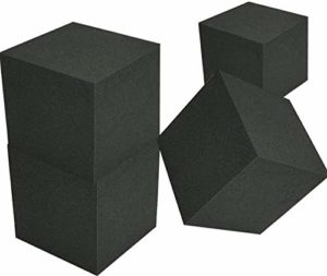 4 pièces 7.8×7.8×7.8 Pouces Mur Coin piège à Basse Mousse Acoustique Mousse Studio Son o Traitement d'absorption Panneaux insonorisés Accessoires la réduction du Bruit, Travail