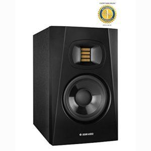 Adam Audio T5V 12,7cm Active Monitor de proximité (simple) avec en microfibre et gratuit Everythingmusic Garantie 1an
