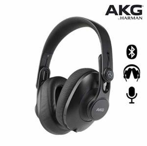 AKG Casque de Studio Pliable K361 Bluetooth sur l'oreille fermée. Noir
