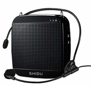 Amplificateur de Voix, SHIDU Mini Amplificateur de Voix avec Microphone Filaire Casque 15W Portable Haut-Parleur Portable Système de Son Audio pour Enseignants,Chant, Entraîneurs, Yoga