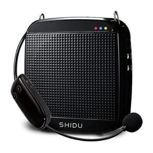 amplificateur de voix,micro avec ampli Amplificatore vocale wireless SHIDU 2.4G 18W Altoparlante portatile ricaricabile con sistema PA con microfono senza fili Cuffie per insegnanti, Canto