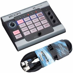 Appareil d'effet Vocal Processor Zoom V3 + câble microphone Keepdrum XLR 6 m
