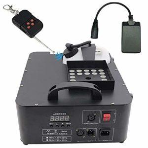 ATGTAOS Machine à Fumée Machine à Brouillard, RGB DMX 3 in1 24 LED Machine à Fumée Éclairage de Scène Projection Verticale W/Remote, pour Noël, d'halloween, Mariage, Intérieur, Scène, Extérieur