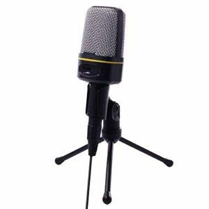 BBZZ Micro PC pour microphone USB Plug & Play professionnel Home Studio à condensateur pour balados, enregistrement, chat en ligne tels que Facebook, Skype, YouTube (Windows/Mac), avec Tri.