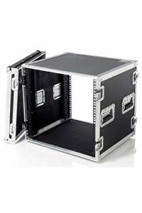 Bespeco CRO30P Flight case professionnel 10U avec rack en bois Noir