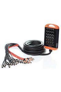 Bespeco XTRA1608L50SC Stage Box 8 Connecteurs Combo/8 Xlr F/8 Xlr M, 50 m, Écrans isolés