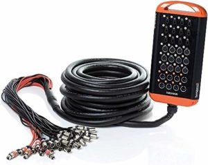 Bespeco XTRA2408L30SC Stage Box 12 Connecteurs Combo/12 Xlr F/8 Xlr M, 30 m, Écrans isolés