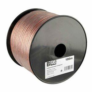 BLCA 100m – 2 x 2.5mm² – Câble Audio pour Enceintes – Câble HP Haut-Parleur en CCA Cuivre pour HiFi et Hi-FI Embarquée
